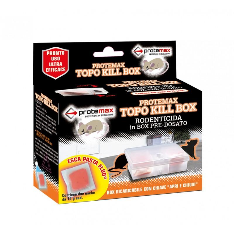 PROTEMAX Topo Kill Box con esca fluorescente