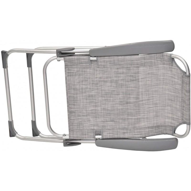 XONE Poltrona mare Pro reclinabile grigia