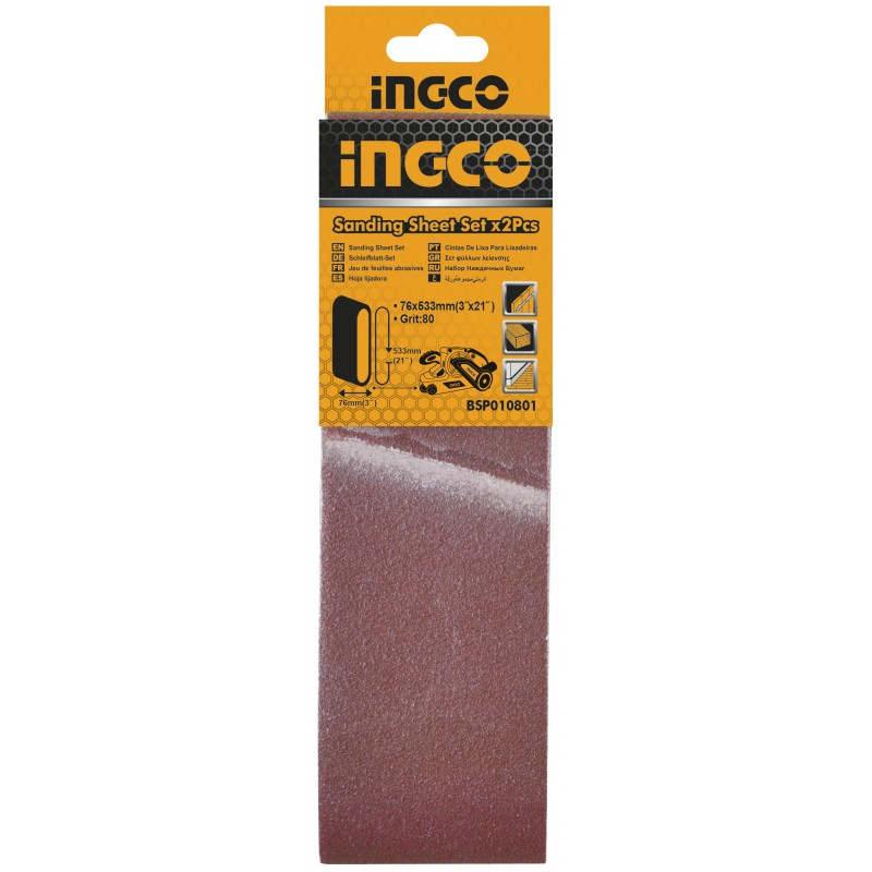 INGCO Carta abrasiva 2pz per BS8102