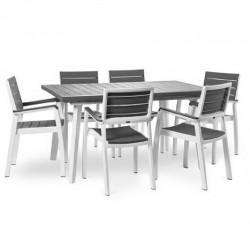 KETER Set Harmony in resina con tavolo allungabile+6 sedie