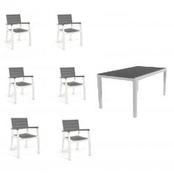 KETER Set Harmony in resina con tavolo fisso+6 sedie