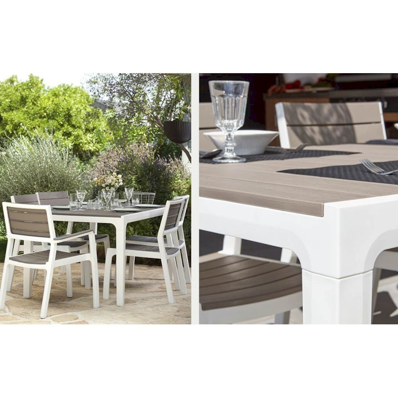 KETER OUTDOOR Set Harmony in resina con tavolo fisso+6 sedie