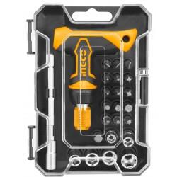 INGCO Kit cacciaviti 24pz impugnatura a T con cricchetto