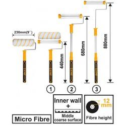 INGCO Rullo microfibra 23cm h.12mm manico estensibile