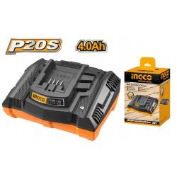 INGCO Caricabatterie rapido 20V 4AH