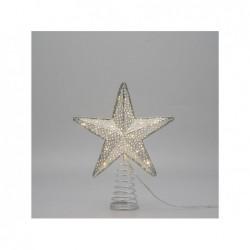 LOTTI Puntale stella 18Ccm bianco caldo