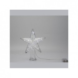 LOTTI Puntale stella 18cm bianco freddo