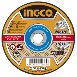 INGCO Disco taglio x metallo 230x1,6mm