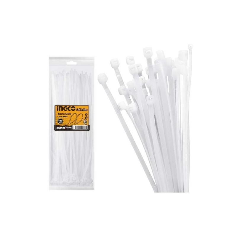 INGCO Fascette nylon 4,8x300mm 100pz