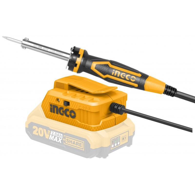 INGCO Saldatore a batteria 20v nudo 40W