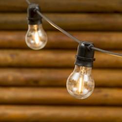 LOTTI Catena 10 lampadine vetro filo verde luce calda