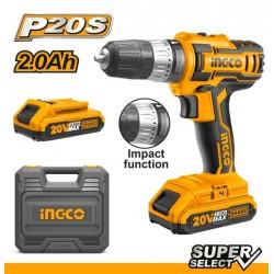 INGCO Trapano battente a batteria 20V