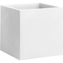 NICOLI Vaso Cubo Momus Bianco 50cm