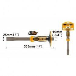INGCO Scalpello con paramano 19x305mm
