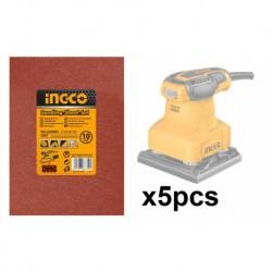 INGCO Set 5 Fogli Carta Abrasiva Per Ps2408