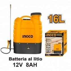 INGCO Pompa A Spalla Batteria al Litio 12v 8ah