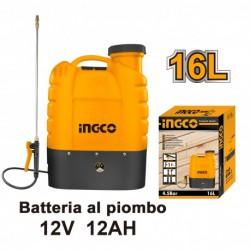 INGCO Pompa A Spalla Batt. Pb 12v 12ah