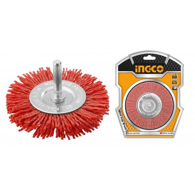 INGCO Spazzola Circolare con filo Ondulato Nylon 100mm