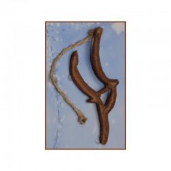 ROSSI ROSA Aratro in legno cm.11 per allestimento presepe