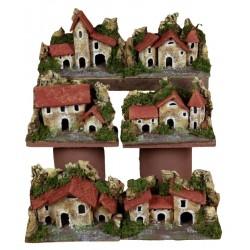 ROSSI ROSA Casa su base 15x10cm