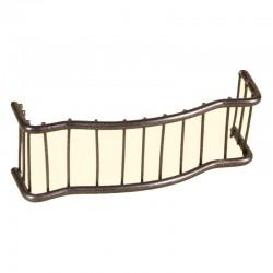 ROSSI ROSA Ringhiera per balcone in ferro 10x3 cm per presepe