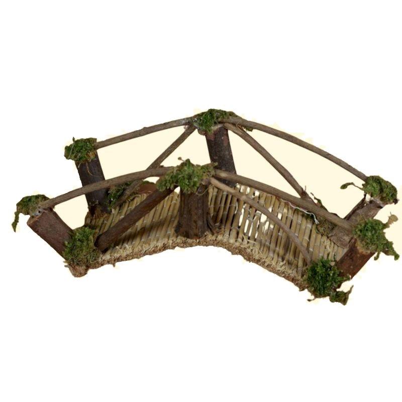 ROSSI ROSA Ponte in legno 13x4 cm