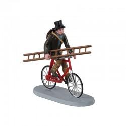 LEMAX Spazzacamino Con Scala Su Bici - Travelling Chimney Sweep