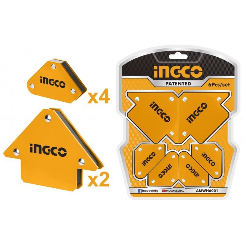 INGCO Set 6pz Supporti Magnetici Per Saldatrice Bl
