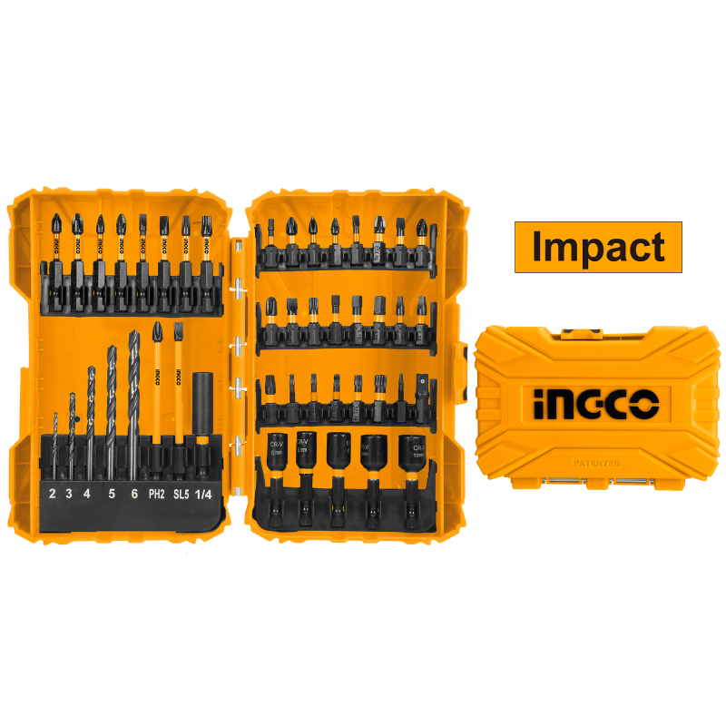 INGCO Set 45pz Bit E Cacciavite Impact Bl