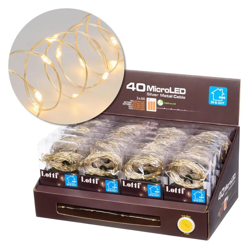 LOTTI Catena 40 Microled Bianco Caldo Uso Esterno/Interno
