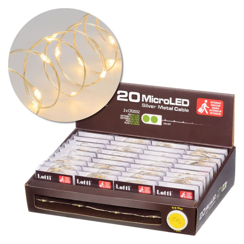 LOTTI 20 Microled Bianco Caldo Interno