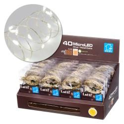 LOTTI 40 Microled Bianco Interno/Esterno A Batteria