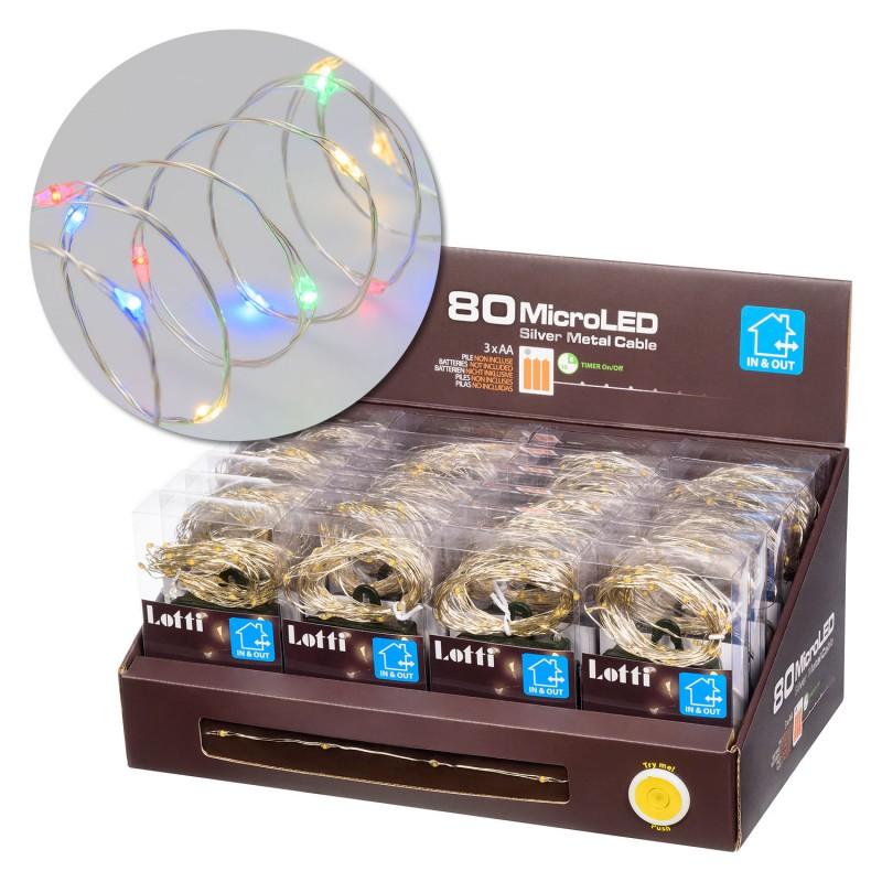 LOTTI 80 Microled Multicolor Interno/Esterno A Batteria