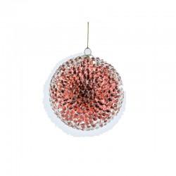 ENZO DE GASPERI Palla rossa con mini sfere trsparenti