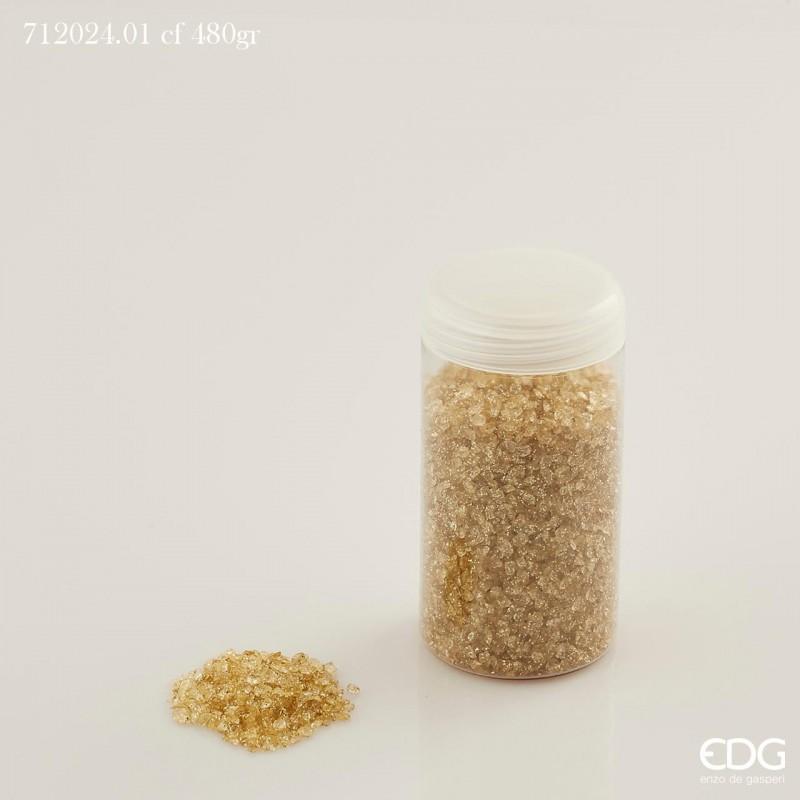 ENZO DE GASPERI Vetro macinato glitterato cf480gr gold