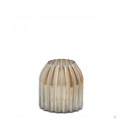 ENZO DE GASPERI Vaso rotondo rigato oro h18cm