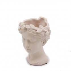 ENZO DE GASPERI Vaso Testa Donna in Cemento H22 Cm