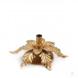 ENZO DE GASPERI Portacandele Con foglie Oro