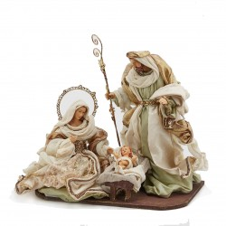 ENZO DE GASPERI Natività King Sacra Famiglia con Base H36 cm