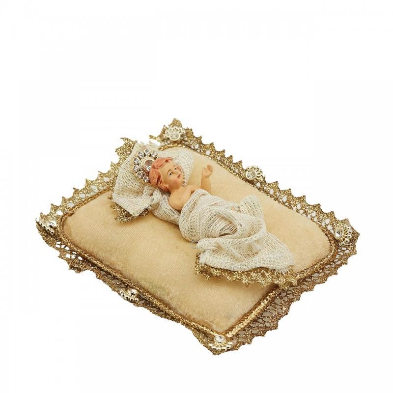 ENZO DE GASPERI Gesù Bambino con Cuscino Oro