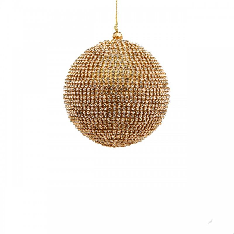 ENZO DE GASPERI Palla con Diamanti Oro D10 cm