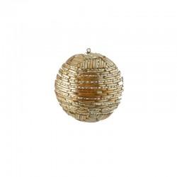 ENZO DE GASPERI Palla fili di perle ø12cm gold