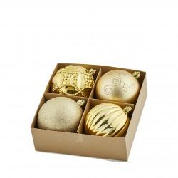 ENZO DE GASPERI Palla poly mix 10cm confezione 4pz pvc gold