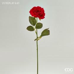 ENZO DE GASPERI Rosa eden velvet ramo h43cm rosso
