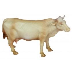 ROSSI ROSA Mucca beige h 7 cm per presepe