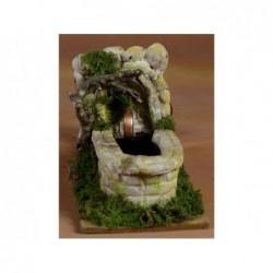 ROSSI ROSA Fontana in resina con pompa 19x10 cm