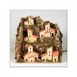 ROSSI ROSA Paesaggio illuminato 20x14