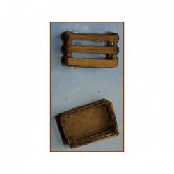 ROSSI ROSA Cassetta legno 4x3x2,5 cm