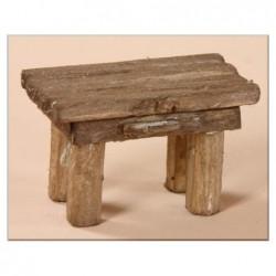 ROSSI ROSA Tavolo in legno cm. 6x3,5x3,5 per presepe