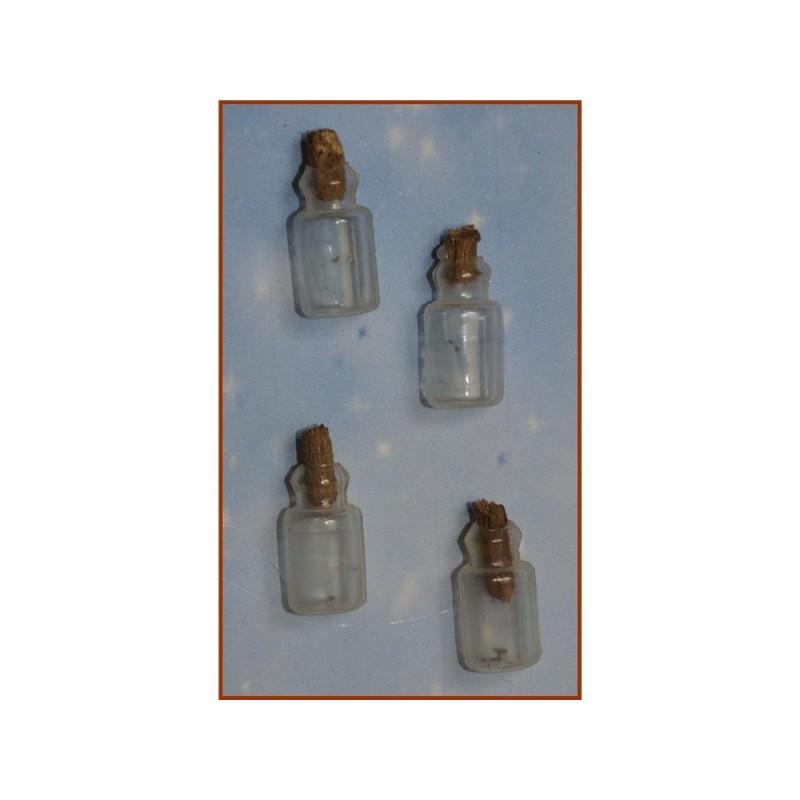 ROSSI ROSA Bottiglie 2,5 cm per presepe